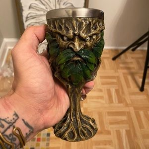 Green Man Chalice Pagan Wiccan